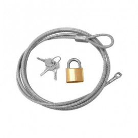 Cable Lock Set (Cable, Key and Lock)
