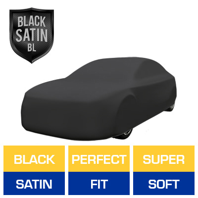 Black Satin BL - Black Car Cover for Mitsubishi 3000GT 1999 Coupe 2-Door